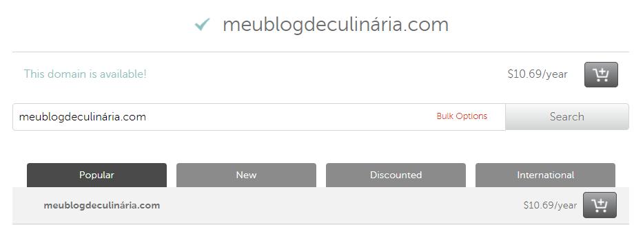 Comprar domínio para criar Blog