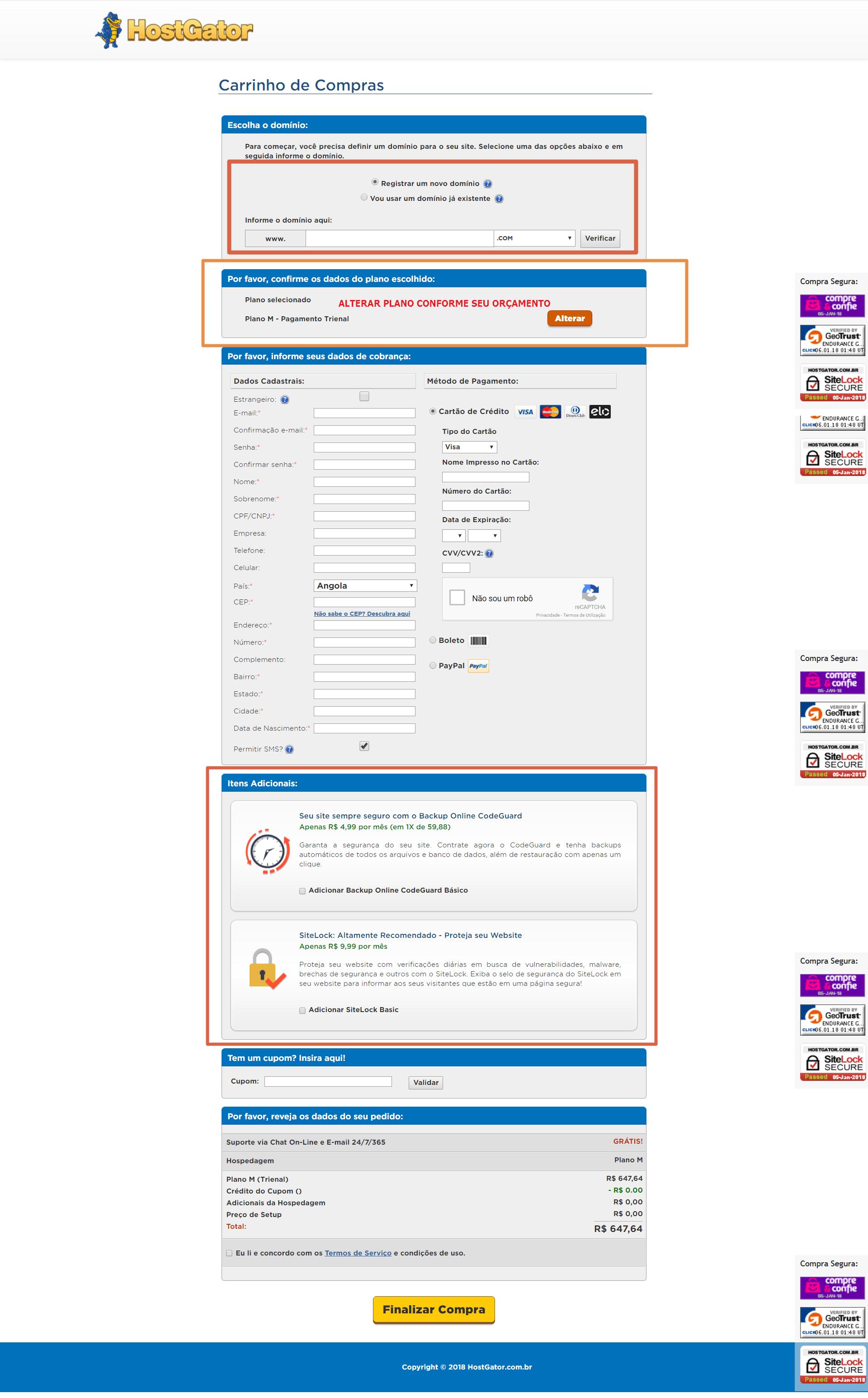 Hostgator - Comprar Hospedagem para Criar Blog