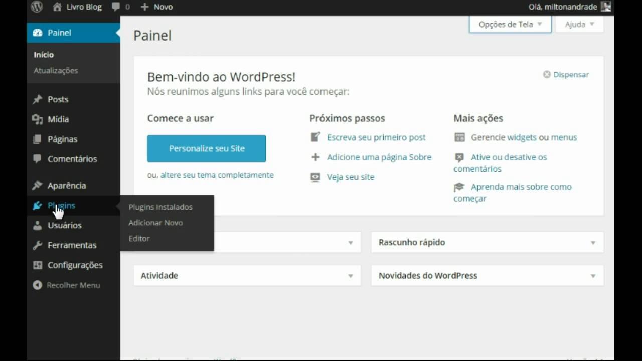 Painel de Administração WordPress